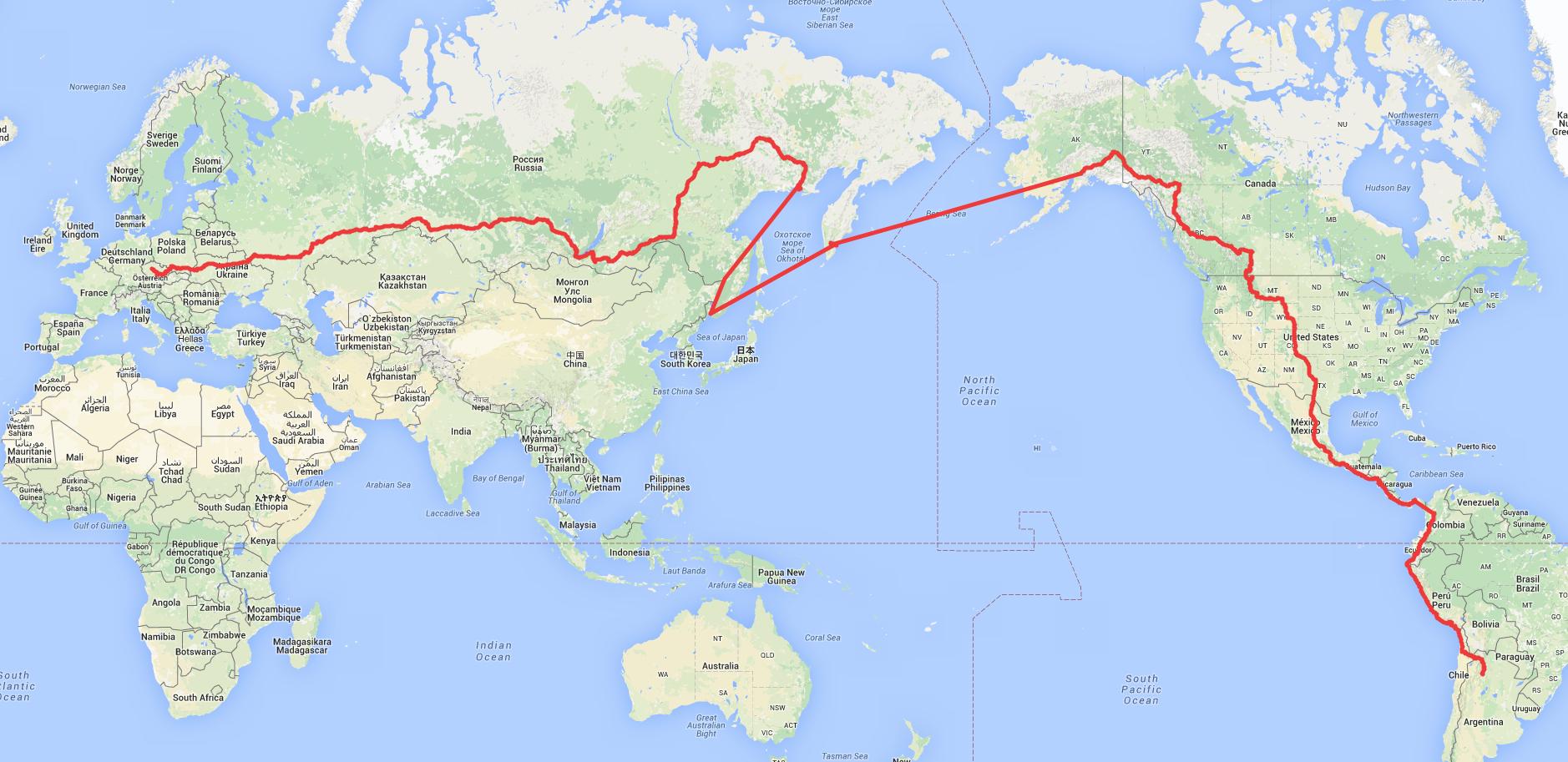 Cesta kolem světa autostopem Tomáše Poláčka