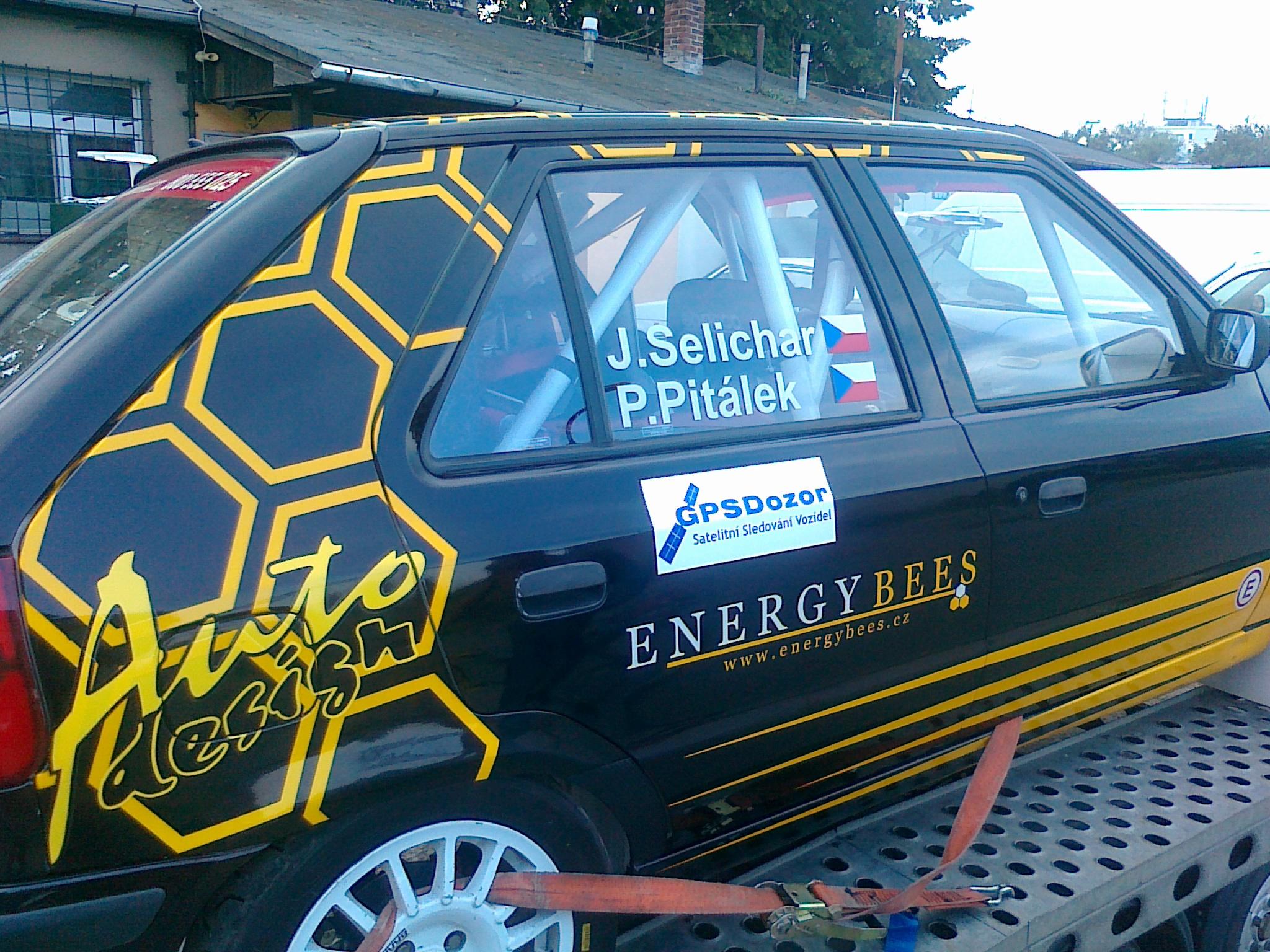 Sledované vozidlo připraveno na převoz na Rally Agropa Pačejov 2013