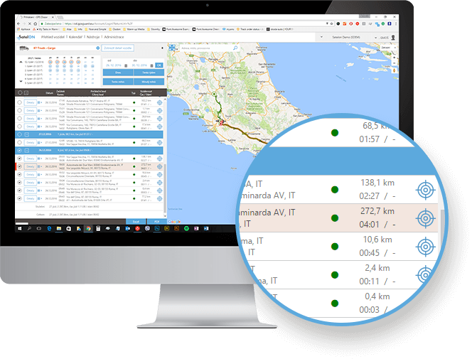 you will instantly love our log book with an intelligent map view